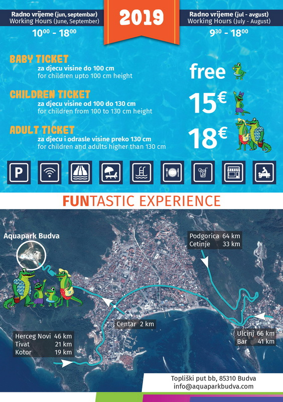 aquapark budva prices 2019
